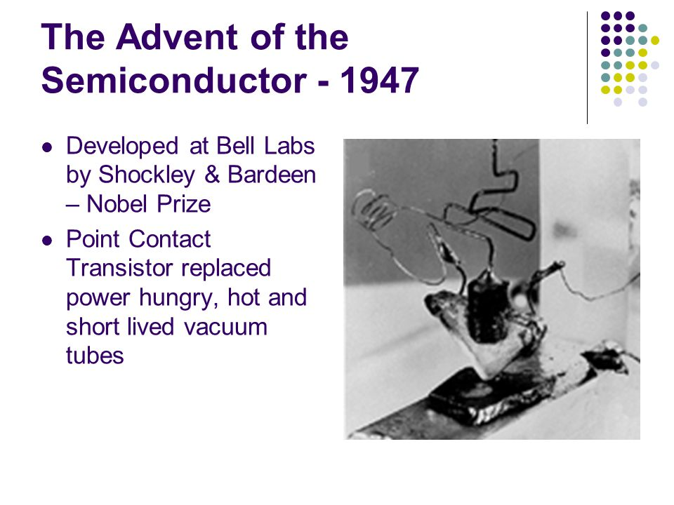 The Advent of the Semiconductor - 1947