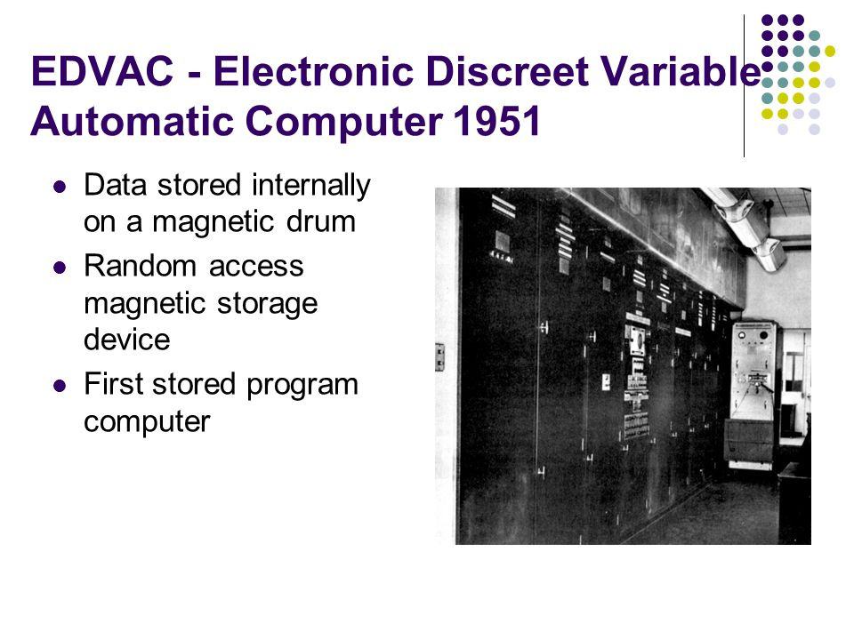 EDVAC - Electronic Discreet Variable Automatic Computer 1951
