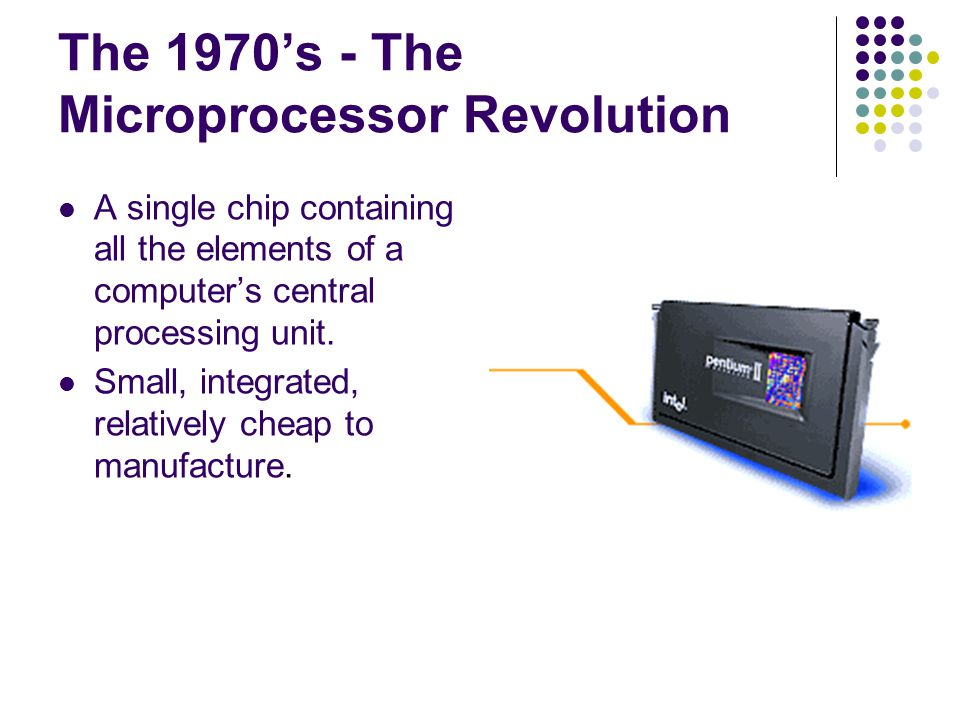 The 1970's - The Microprocessor Revolution