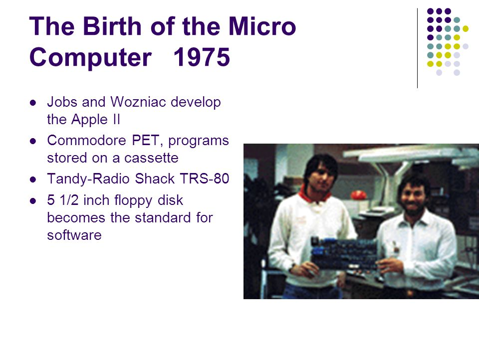 The Birth of the Micro Computer 1975