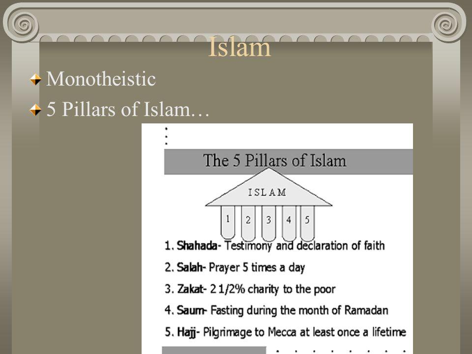 Islam Monotheistic 5 Pillars of Islam…