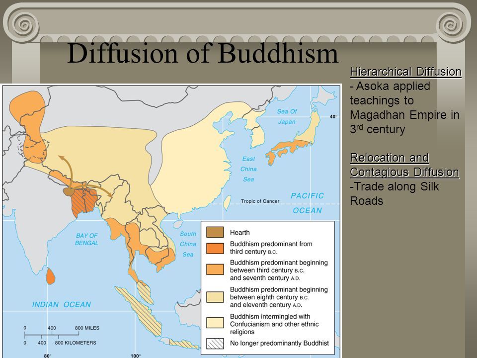 compare the diffusion of buddhism and the diffusion of christianity Christianity and buddhism,  trade and diffusion of artistic styles linked the  characteristics of world religions in gradually challenging animism were very.