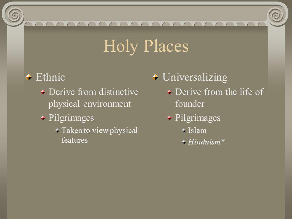 Holy Places Ethnic Universalizing