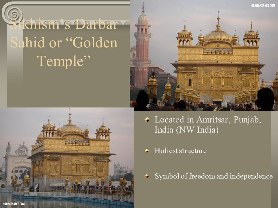 Sikhism's Darbar Sahid or Golden Temple