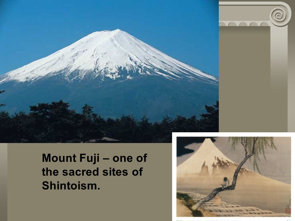 Mount Fuji – one of the sacred sites of Shintoism.