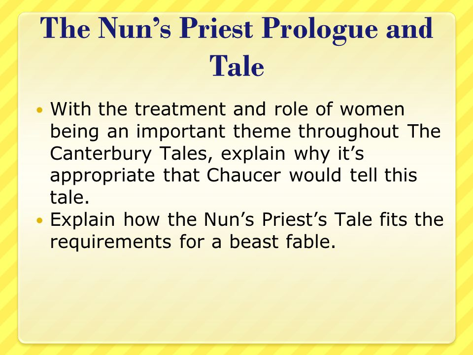The Nun's Priest Prologue and Tale