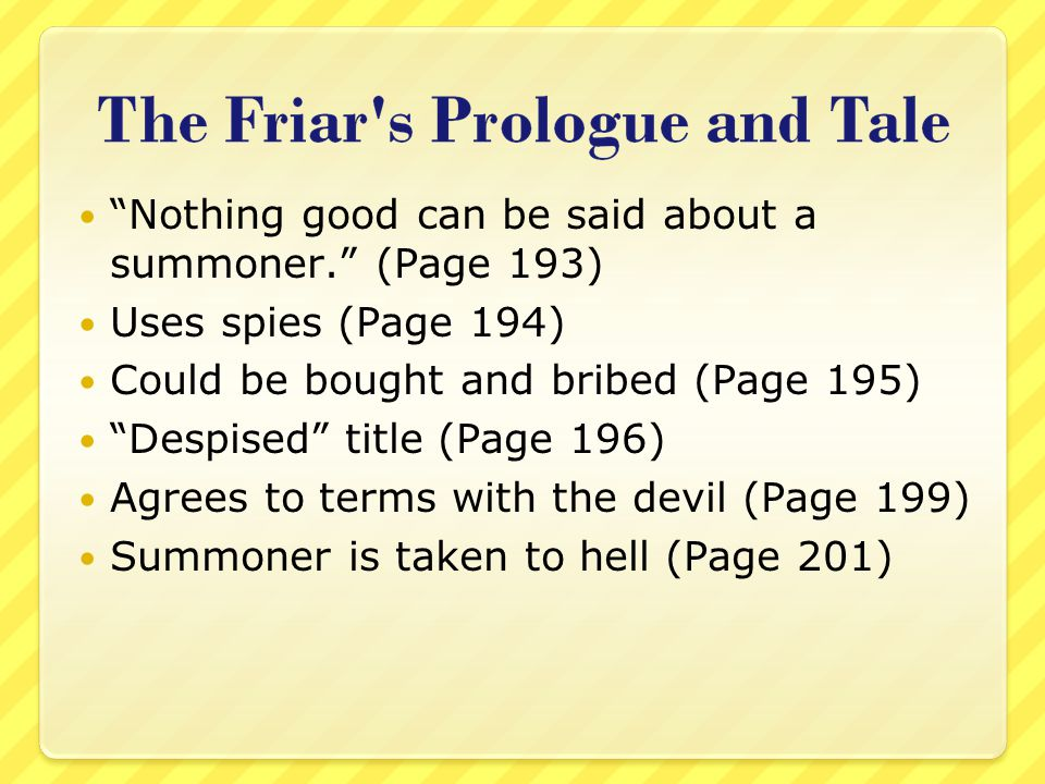 Nothing good can be said about a summoner. (Page 193)