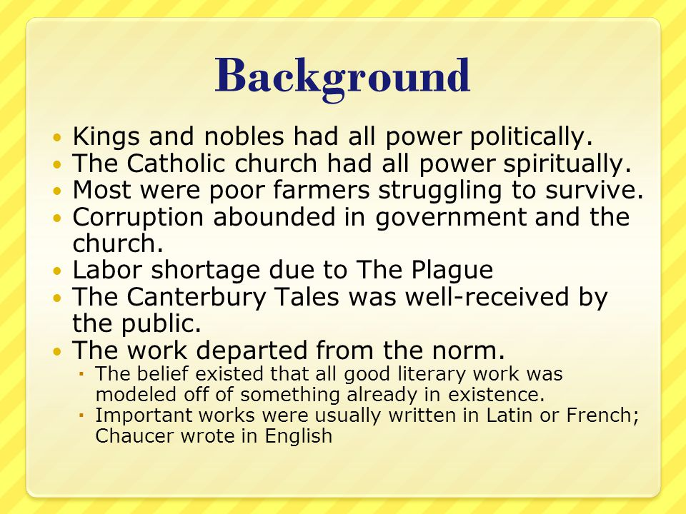 Background Kings and nobles had all power politically.