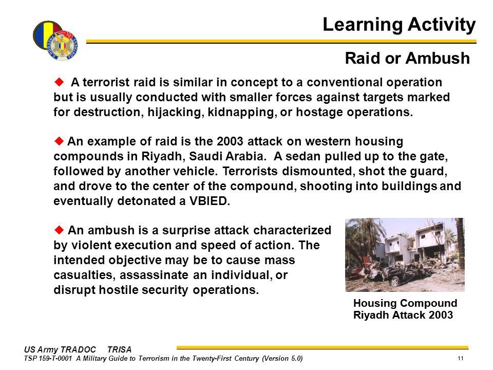 Learning Activity Raid or Ambush