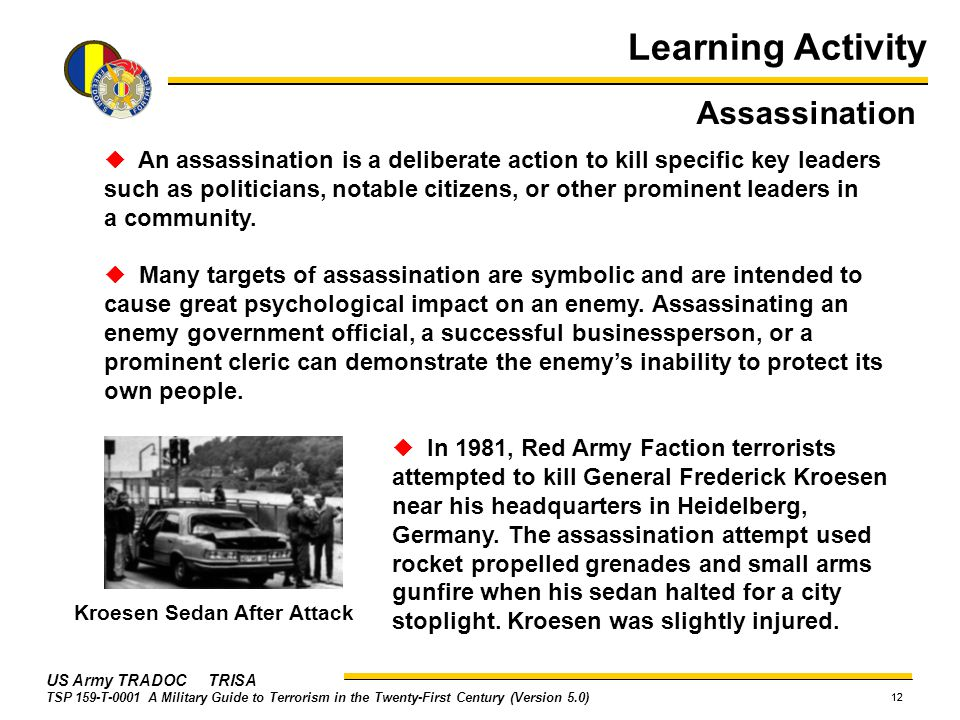 Learning Activity Assassination