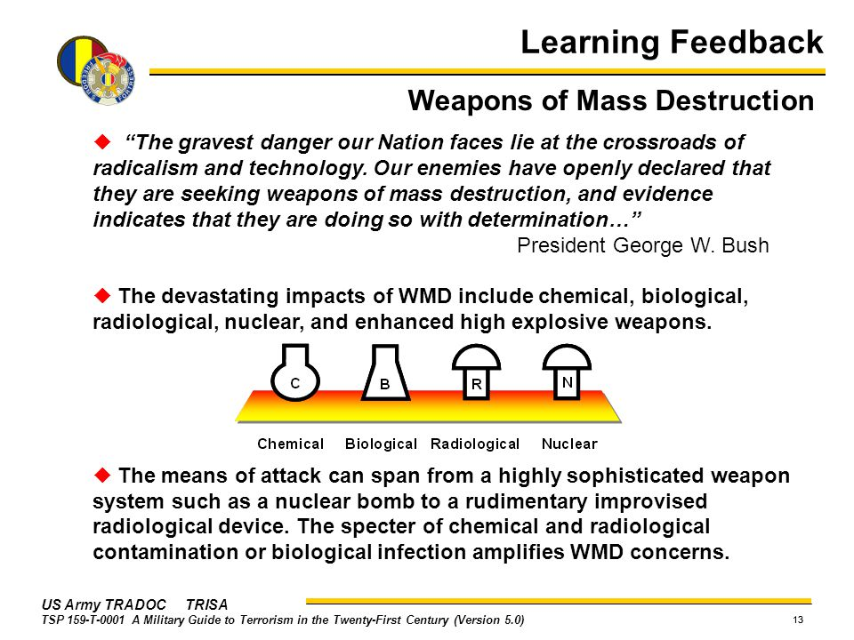 Learning Feedback Weapons of Mass Destruction