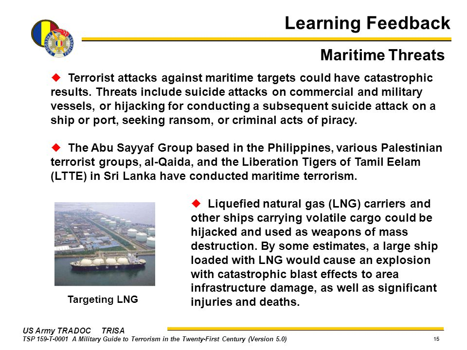 Learning Feedback Maritime Threats