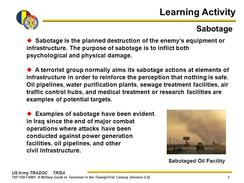 Learning Activity Sabotage