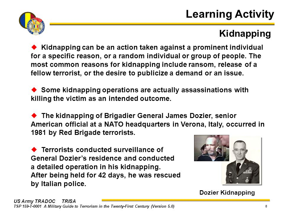 Learning Activity Kidnapping
