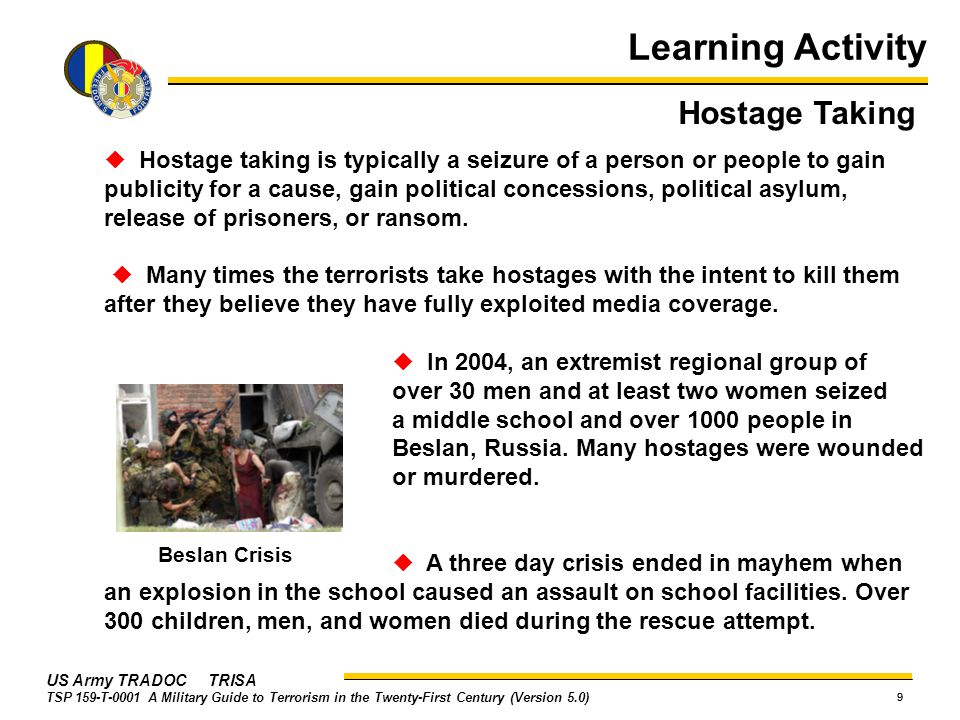 Learning Activity Hostage Taking