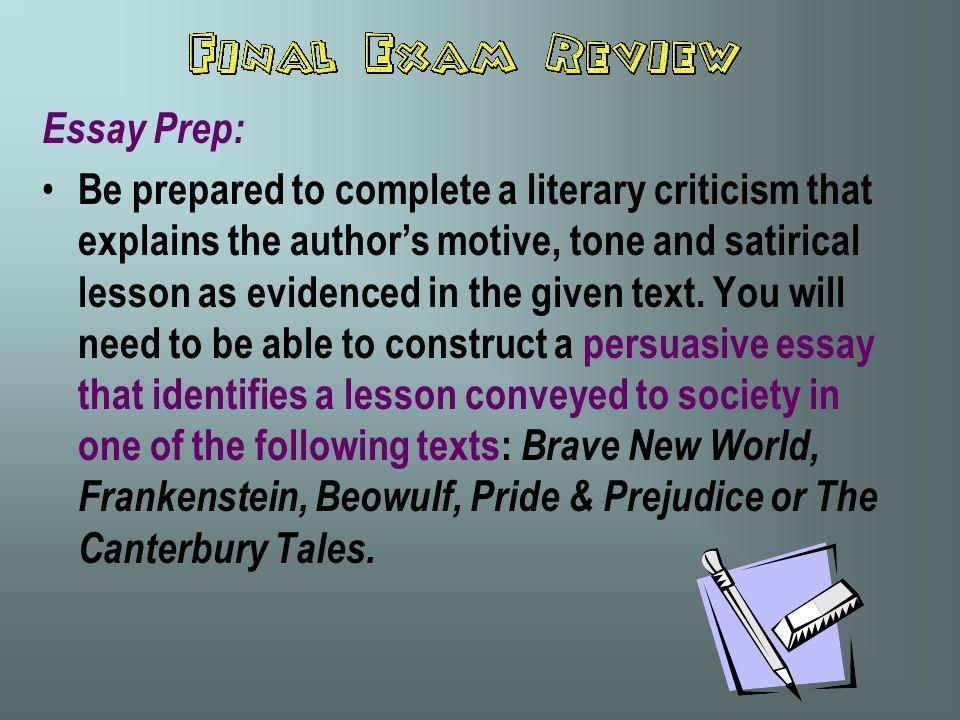 Essay Prep: