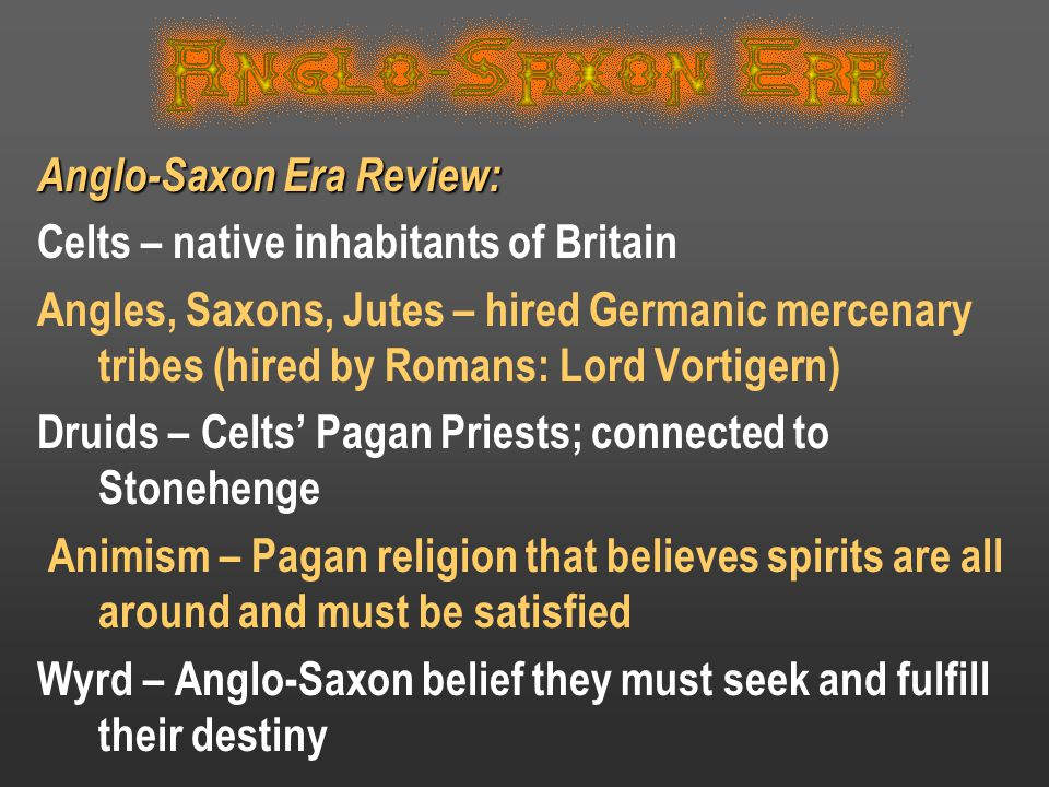 Anglo-Saxon Era Review: