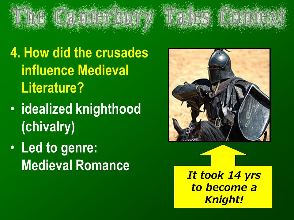 It took 14 yrs to become a Knight!
