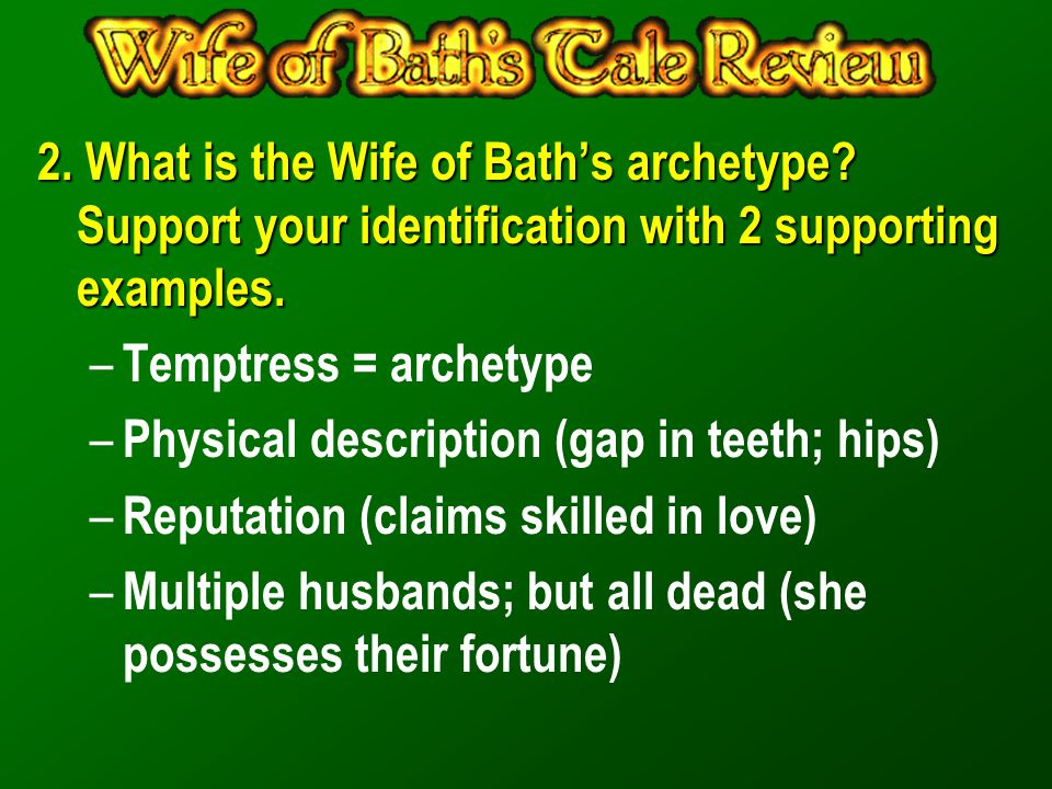 2. What is the Wife of Bath's archetype