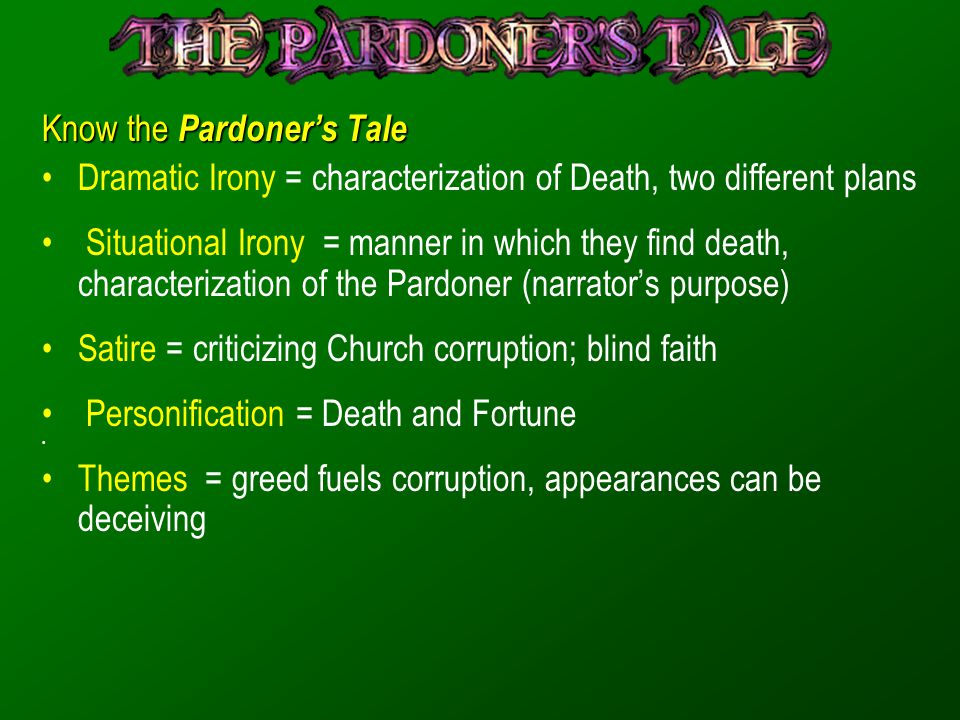 Know the Pardoner's Tale