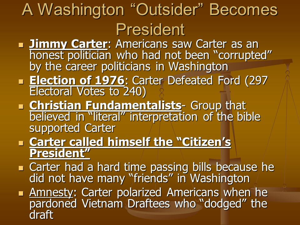 A Washington Outsider Becomes President