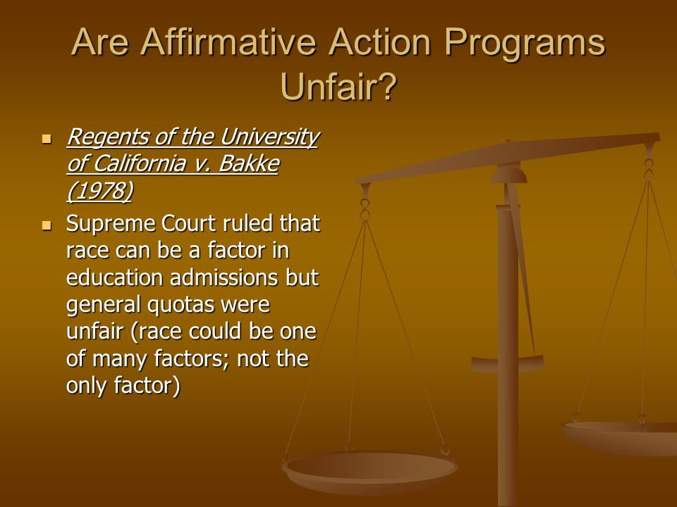 Are Affirmative Action Programs Unfair