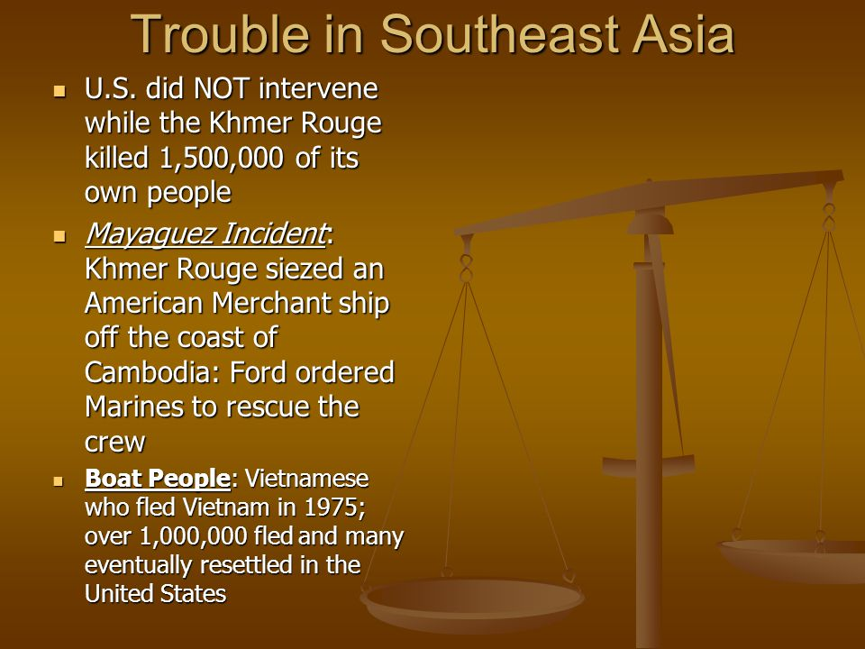 Trouble in Southeast Asia