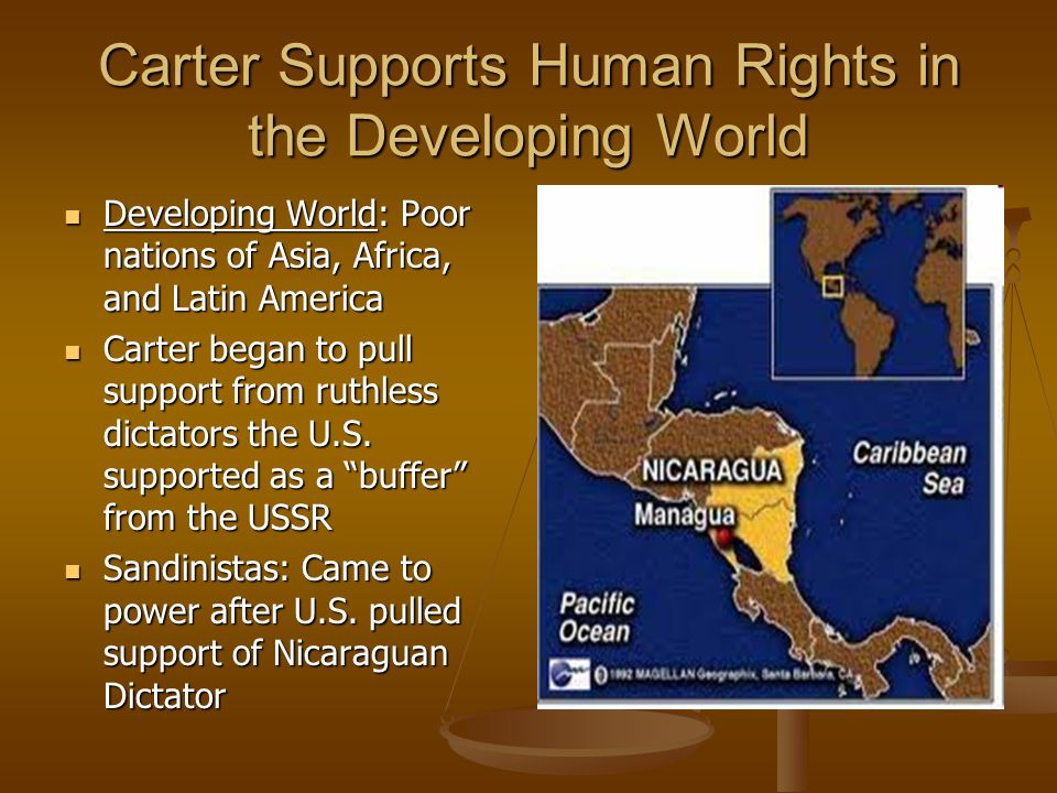 Carter Supports Human Rights in the Developing World