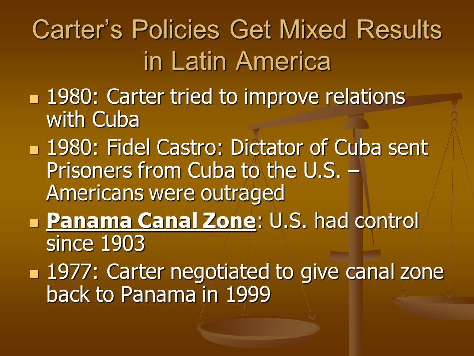 Carter's Policies Get Mixed Results in Latin America