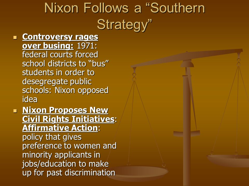 Nixon Follows a Southern Strategy