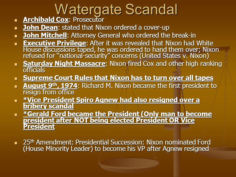 Watergate Scandal Archibald Cox: Prosecutor