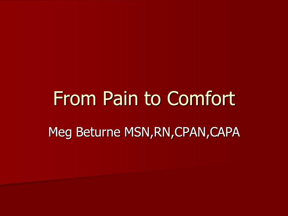 Meg Beturne MSN,RN,CPAN,CAPA