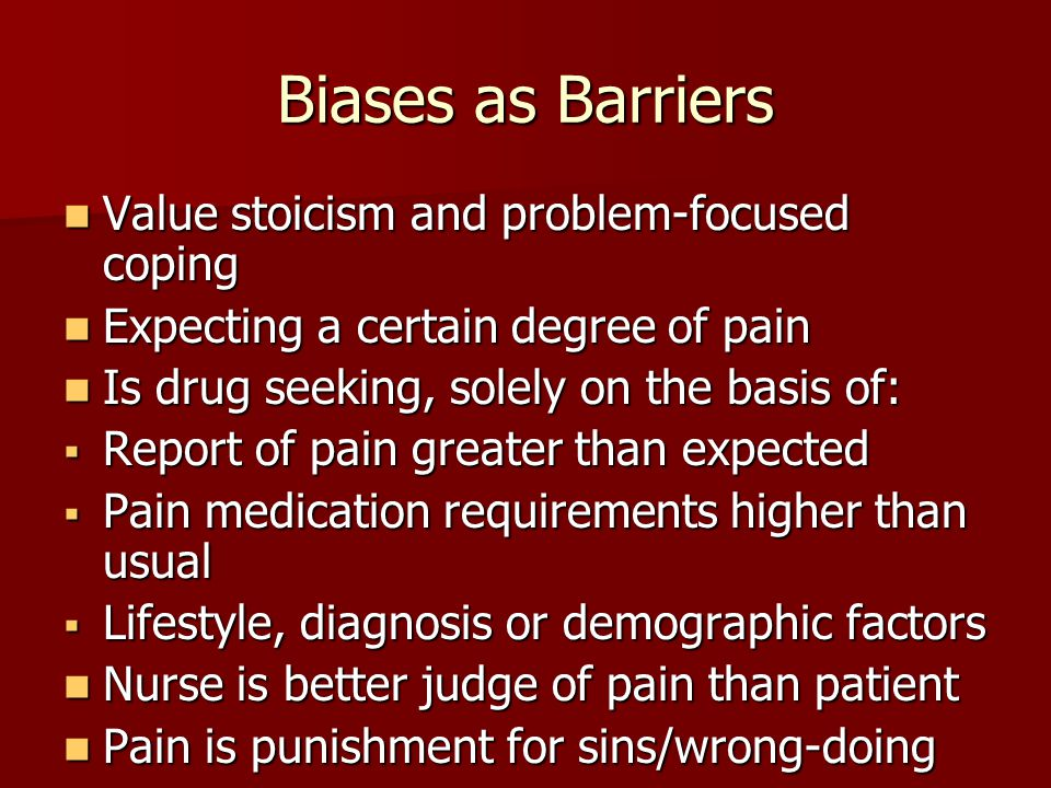 Biases as Barriers Value stoicism and problem-focused coping