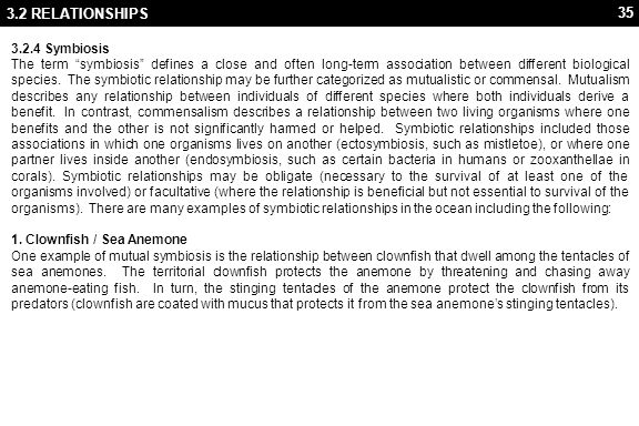 3.2 RELATIONSHIPS 2. Cleaner Fish & Shrimp / Larger Fish