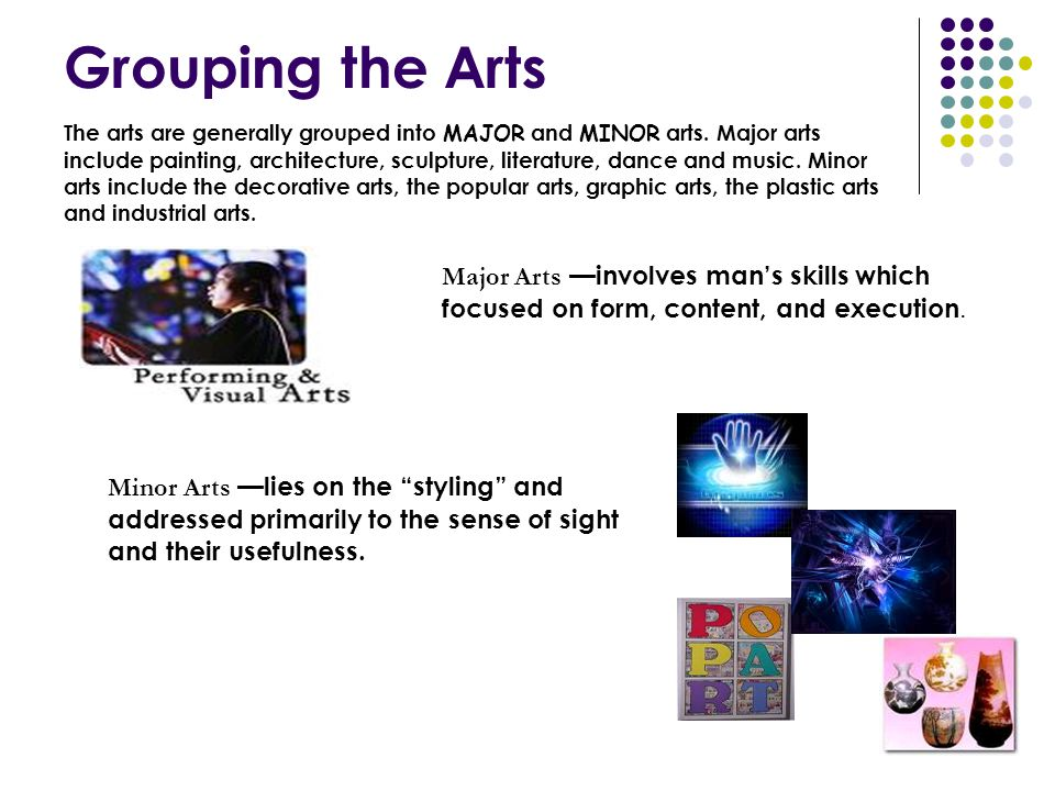Grouping the Arts