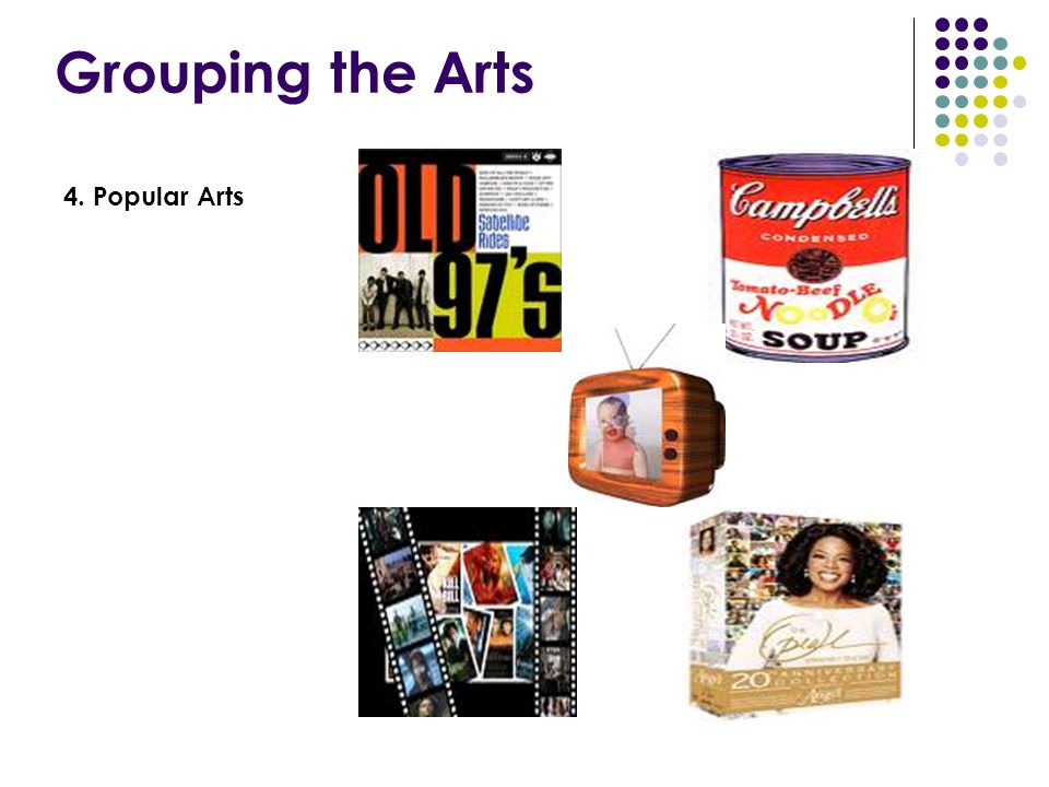 Grouping the Arts 4. Popular Arts