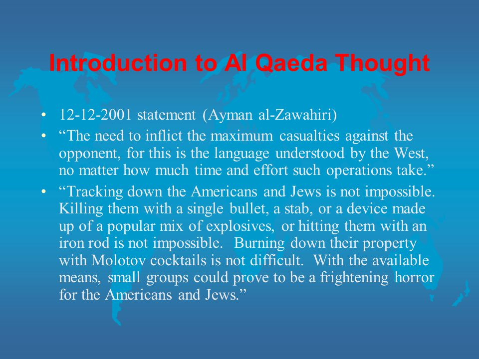 Introduction to Al Qaeda Thought