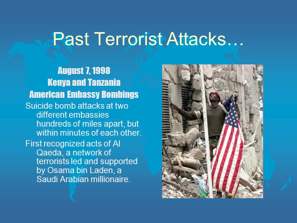 Past Terrorist Attacks…