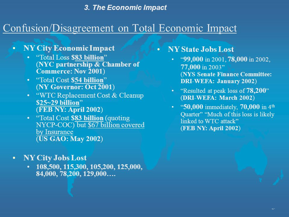 Confusion/Disagreement on Total Economic Impact