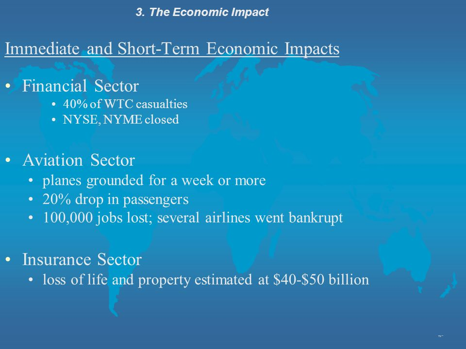 Immediate and Short-Term Economic Impacts Financial Sector