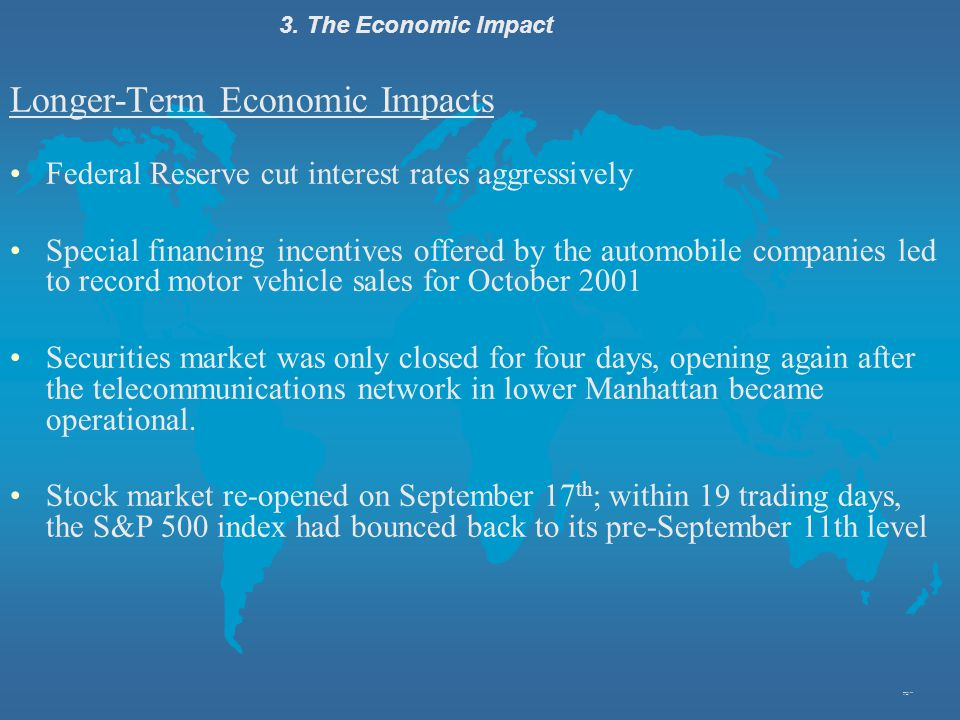 Longer-Term Economic Impacts