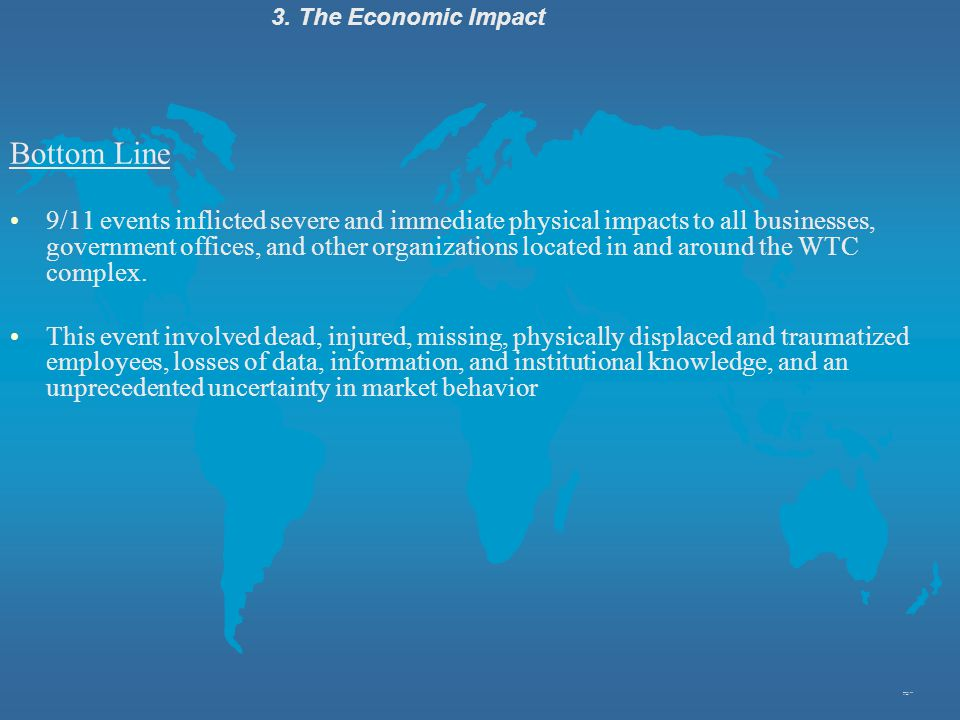 3. The Economic Impact Bottom Line.