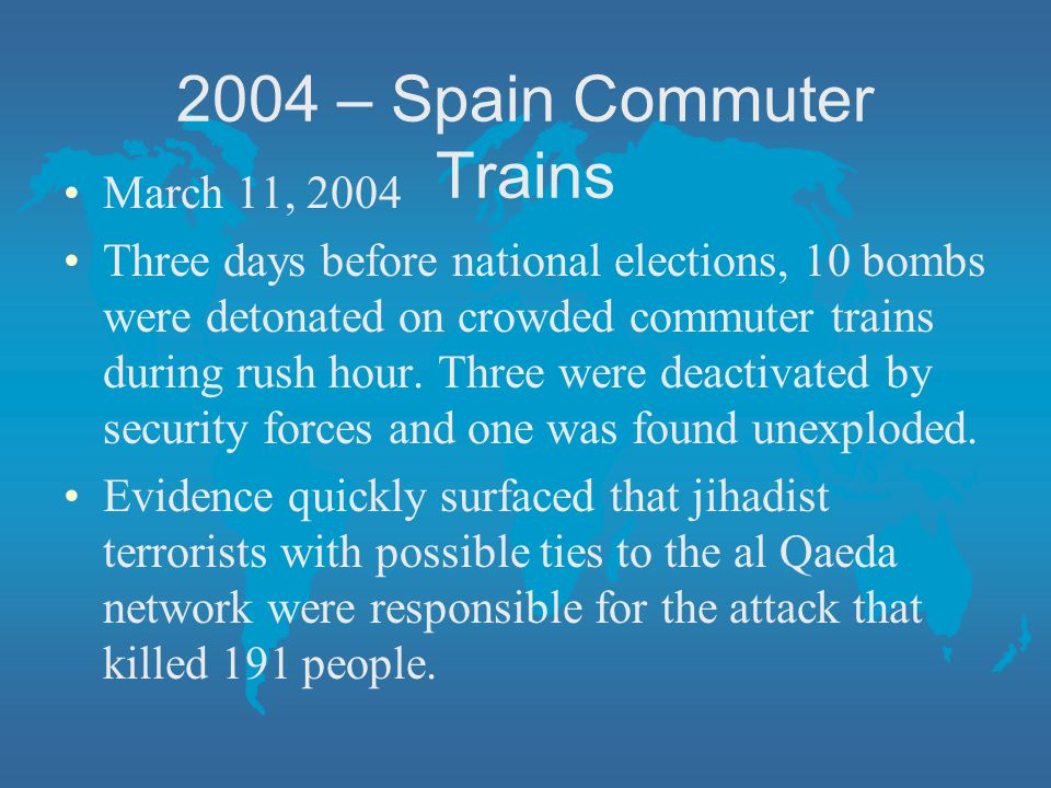 2004 – Spain Commuter Trains