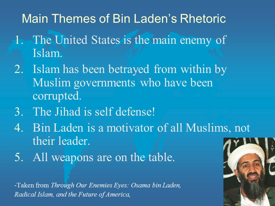 Main Themes of Bin Laden's Rhetoric