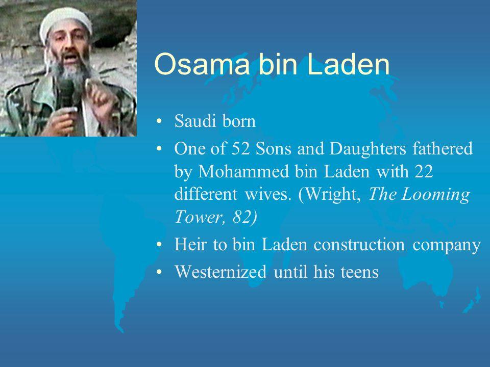 Osama bin Laden Saudi born