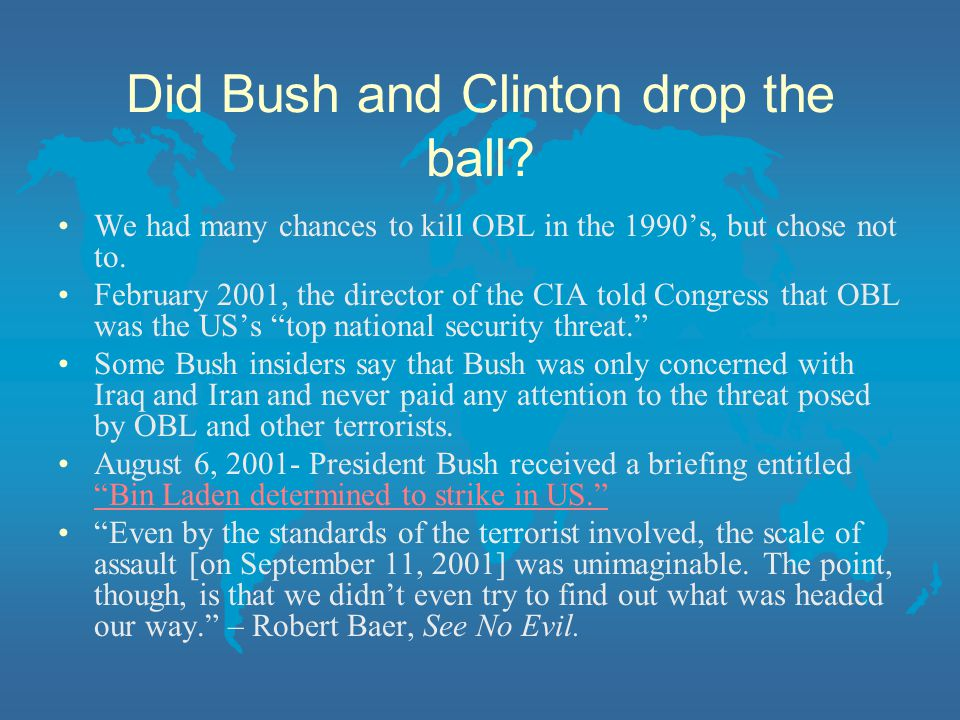 Did Bush and Clinton drop the ball