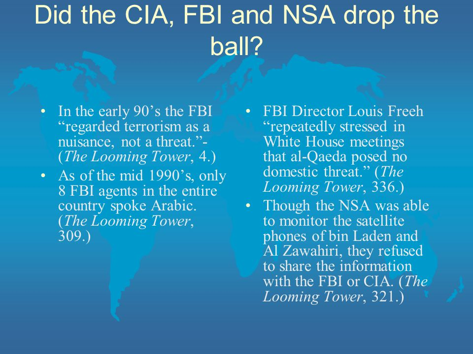 Did the CIA, FBI and NSA drop the ball
