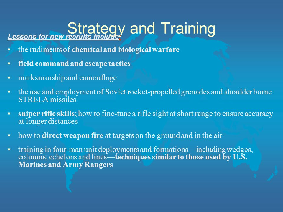Strategy and Training the rudiments of chemical and biological warfare