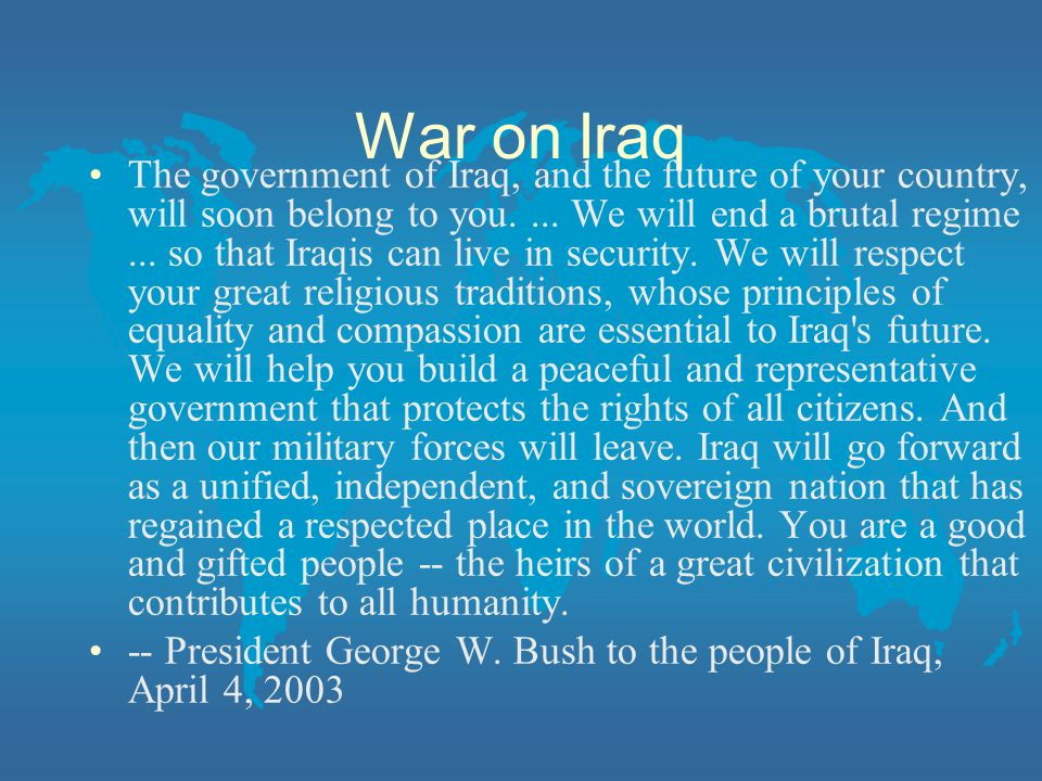 War on Iraq