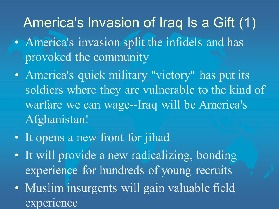 America s Invasion of Iraq Is a Gift (1)
